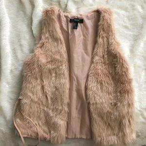 Jackets & Blazers - Forever 21 Faux Fur Vest
